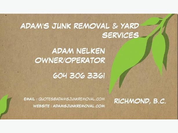 Adam's Junk Removal & Yard Services