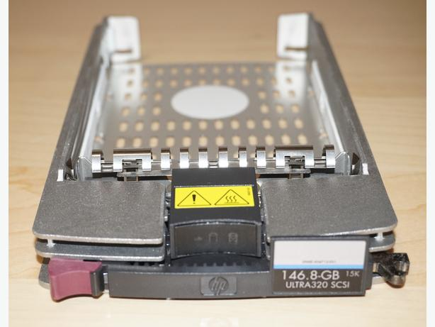 Two HP Hot Swap Trays for Hard Drives.