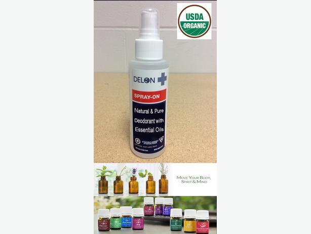 Clean & Organic Spray-On Deoderant Healing Essential Oils - $5 per bottle