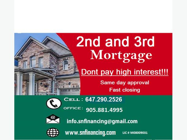 2nd and 3rd mortgage