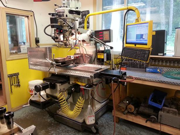 """Fully Loaded, Low Hours, Birmingham 10""""x54"""" CNC Milling Center + TONS OF EXTRAS"""