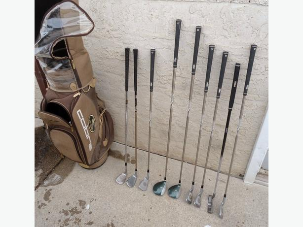 GOLF CLUB SET WITH A COBRA CLUB CARRY BAG