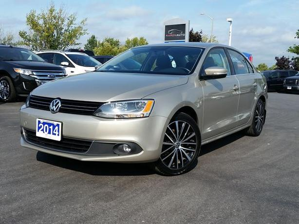 2014 Volkswagen Jetta 1.80 HIGHLINE-LEATHER--SUNROOF--NAVIGATION -73,312 kms