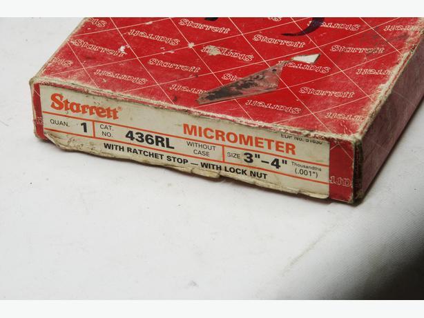 """Starrett 3-4"""" mic, boxed"""