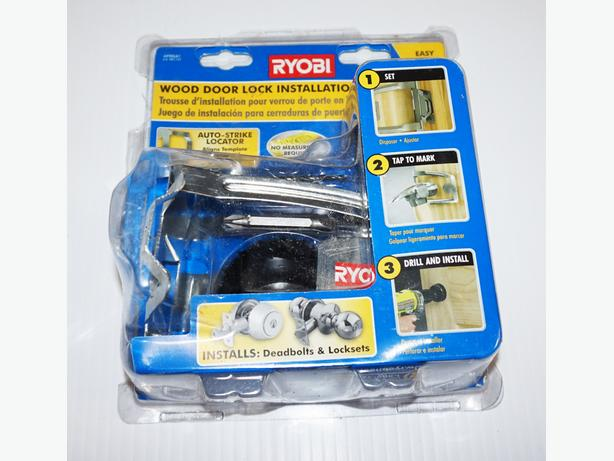 """Ryobi"" Wood Door Lock Installation Kit – Brand New Condition"