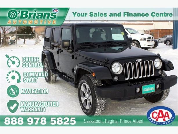 2016 Jeep Wrangler Unlimited Sahara w/Navigation!