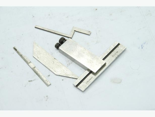 Starrett 453  die makers square w all attachments