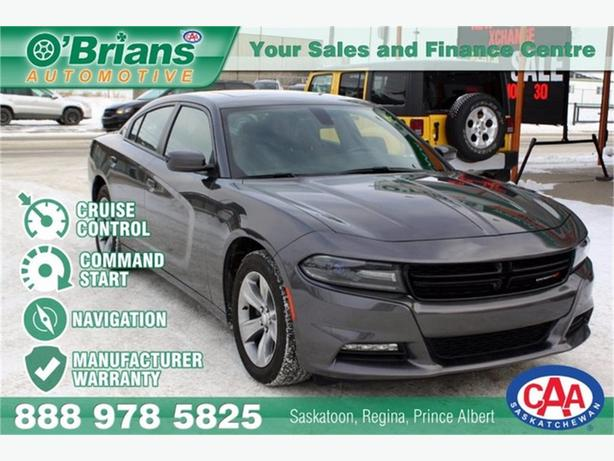 2016 Dodge Charger SXT w/Mfg Warranty, Nav