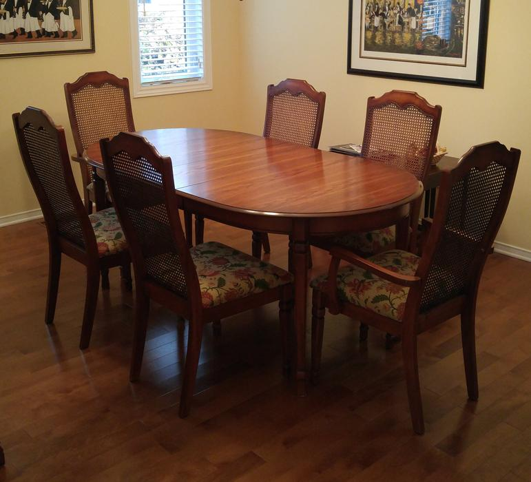 Dining room set table buffet hutch chairs orleans for Dining room tables kelowna