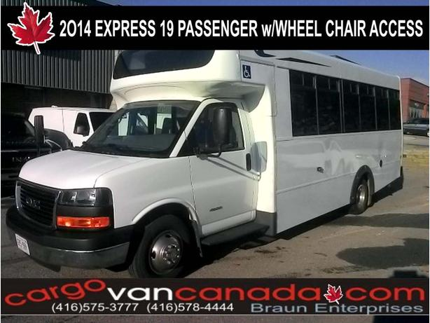 · BUS ~ 2014 GMC SAVANA 4500 BLUE BIRD 19 PASS W/ 2WHEEL CHAIR ACCESS