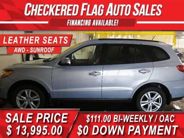 2010 Hyundai Santa Fe LIMITED-HEATED LEATHER-AWD-SUNROOF