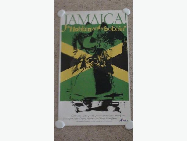 Rare 1988 Jamaican Bobsled Team Poster