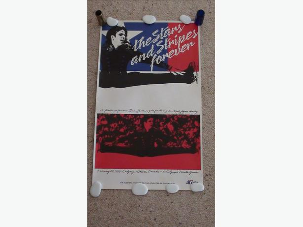 Rare Brian Boitano 1988 Olympics Poster