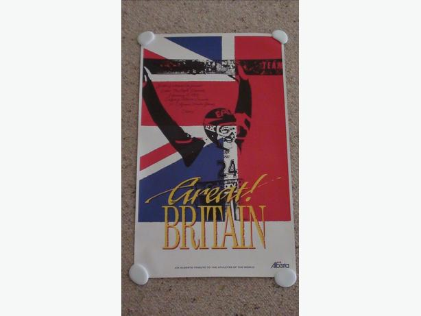 "Rare ""Eddie the Eagle""  Olympic Poster"