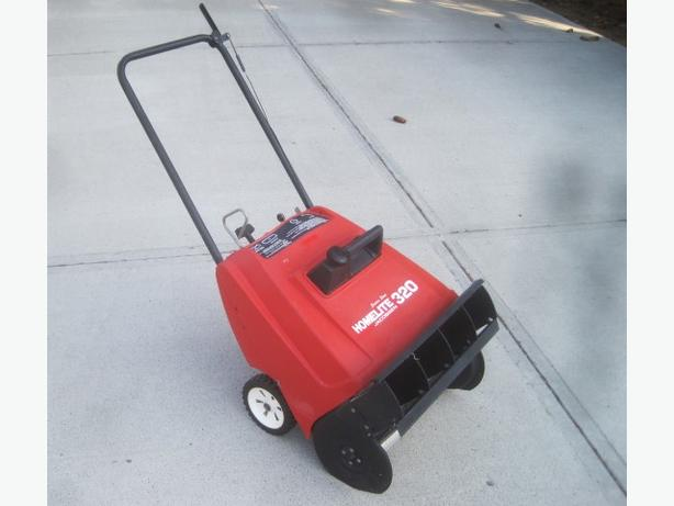 Snow Thrower ~ Homelite gas power w/ electric-start