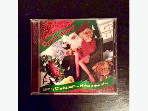 """Cyndi Lauper """"Merry Christmas... 😋Have a nice life"""", Christmas CD"""