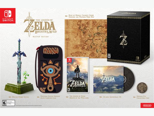 Legend of Zelda: Breath of the Wild Master Edition for Nintendo Switch
