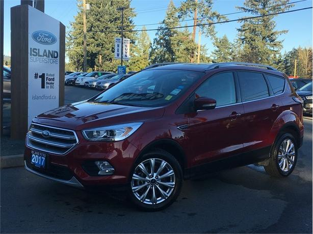 2017 Ford Escape Titanium, Moonroof,  Leather, AWD