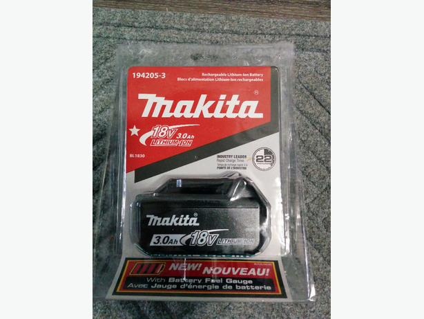 NEW Makita 18V 3.0 Ah Lithium-Ion Battery + BONUS