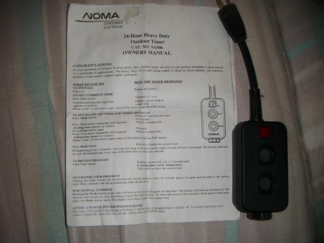 how to use a block heater timer
