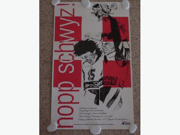 Rare Calgary Winter Olympics Poster