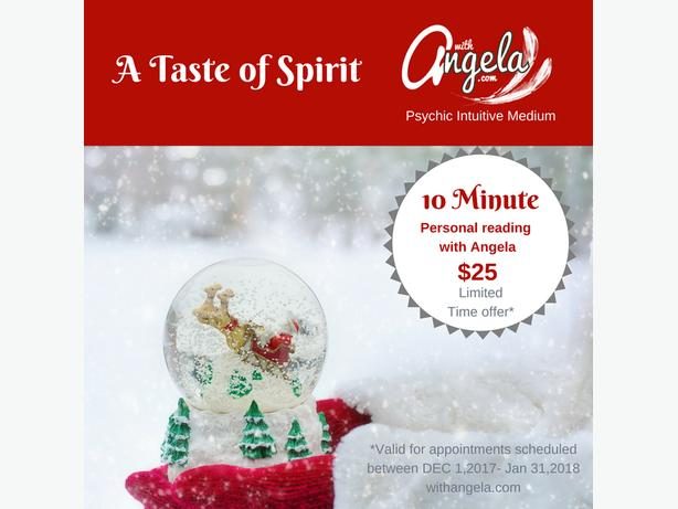 Taste of Spirit Holiday Special! A reading with Angela!