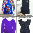 Gymnastics / Volleyball outfits $10/each sz 6x - 10