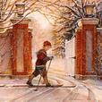 4 framed winter scene small prints by Trisha Romance