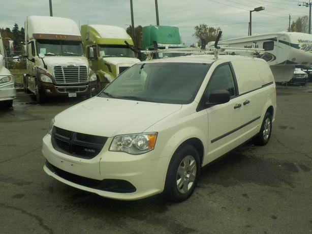2012 Dodge RAM Caravan Cargo Van w/ Shelving & Ladder Rack