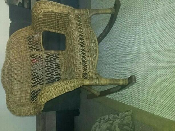 wicker roking chair
