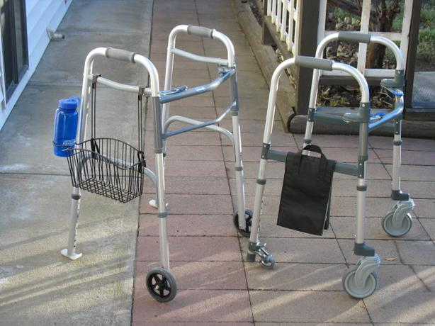 TWO EXCELLENT INVACARE ( 2 WHEEL ) WALKERS FOR SALE