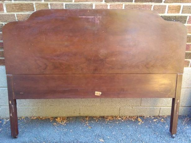 Vintage/Antique Double/Full Headboard - Heavy Solid Wood