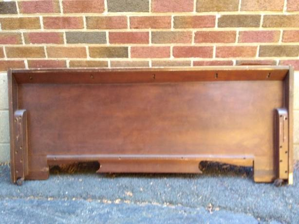 Art Deco Double/Full Footboard - Heavy Solid Wood