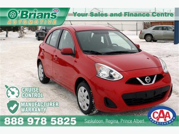 2016 Nissan Micra SV w/Mfg Warranty