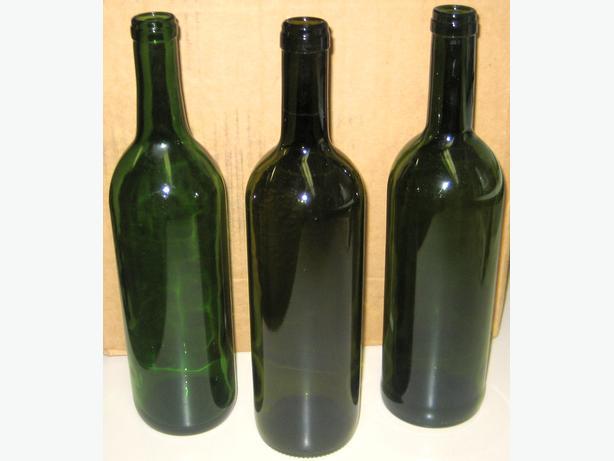 Wine bottles - green