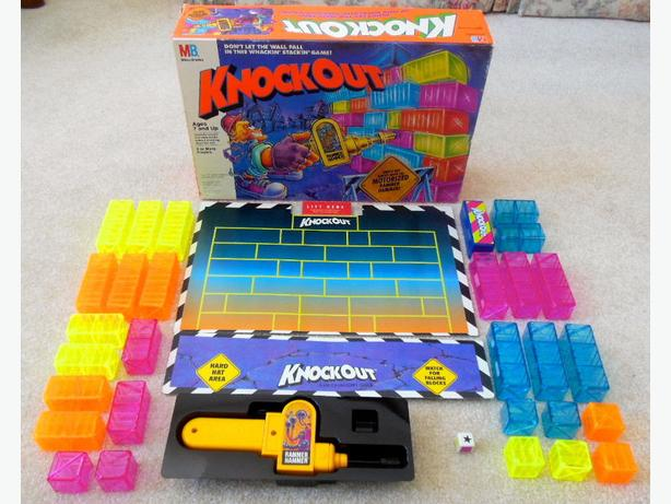 Milton Bradley Knockout Wall Stack 1991 Board Game