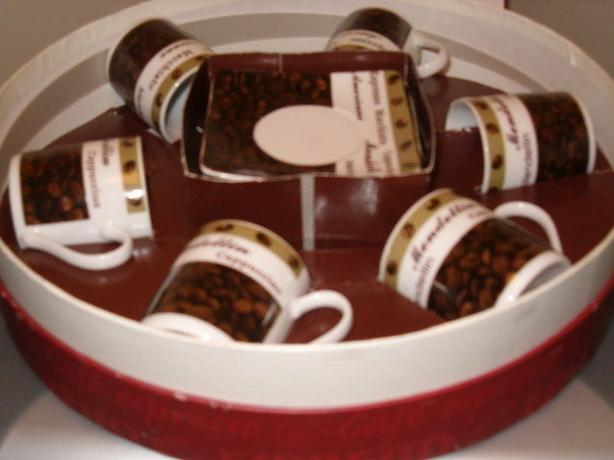 espresso six cups sauces china gift set .
