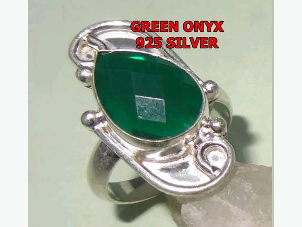 GREEN ONYX 925 SILVER