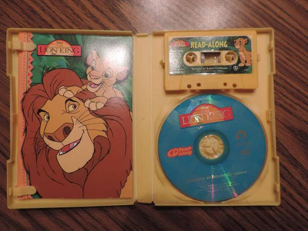 lion king cd book .tape case read -long