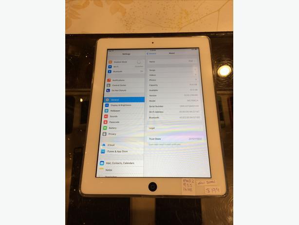 Apple iPad 2 w/ WiFi White 16 GB Tablet w/ Warranty!