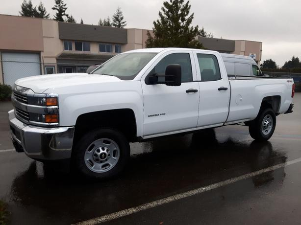 USED 2015 CHEVROLET SILVERADO 2500HD 4X4 EXT CAB WT FOR SALE IN PARKSVILLE