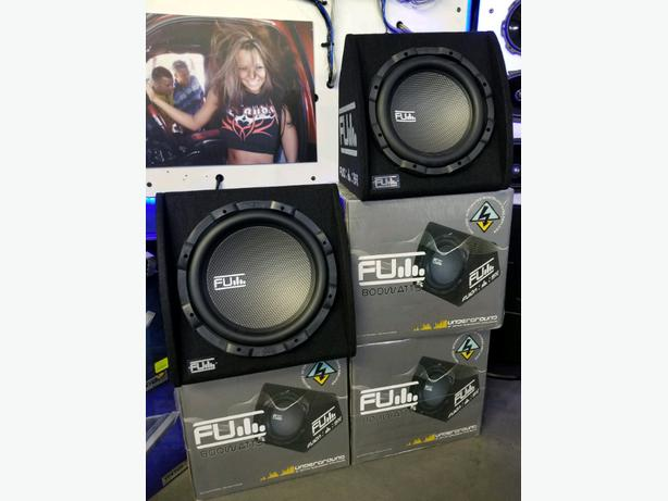 BASS for your car! FLY AUDIO Subwoofer box w/built in amplifier