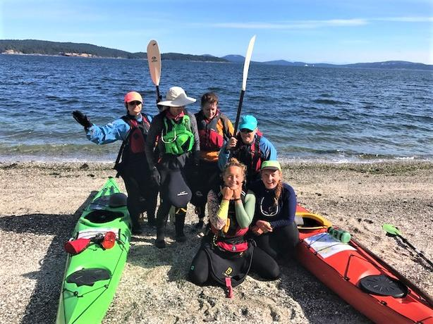 All Women  4 day kayak / camping trip in the Gulf Islands