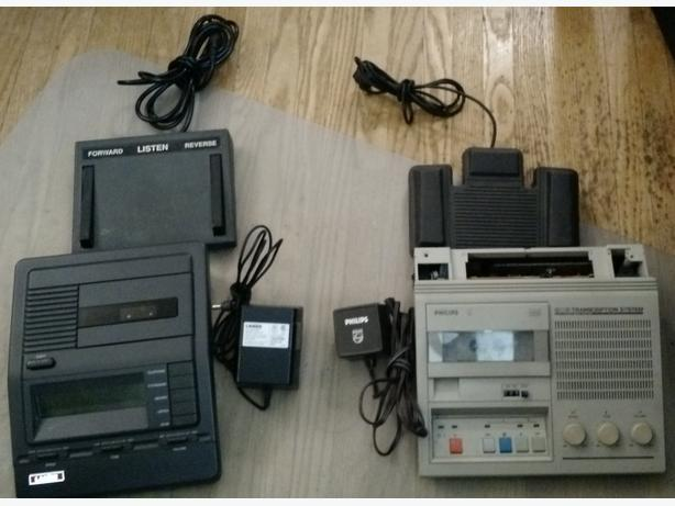 Lanier and Philips Transcription Machines - $10 for both