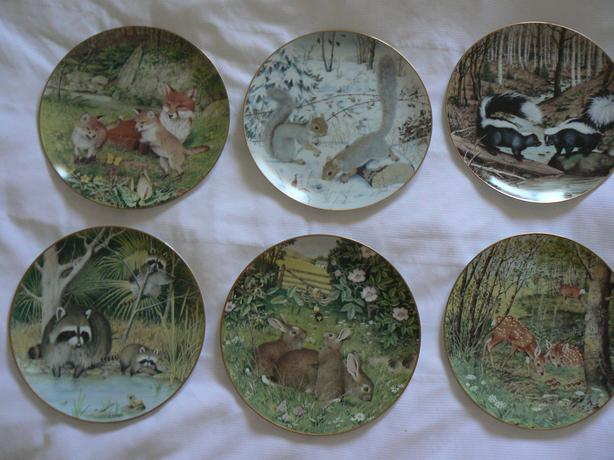 6 Woodland Year Collector Plates