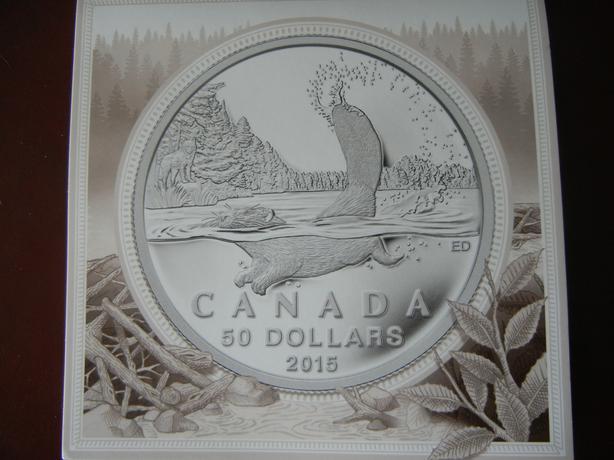 $50 Fine Silver Beaver Coin