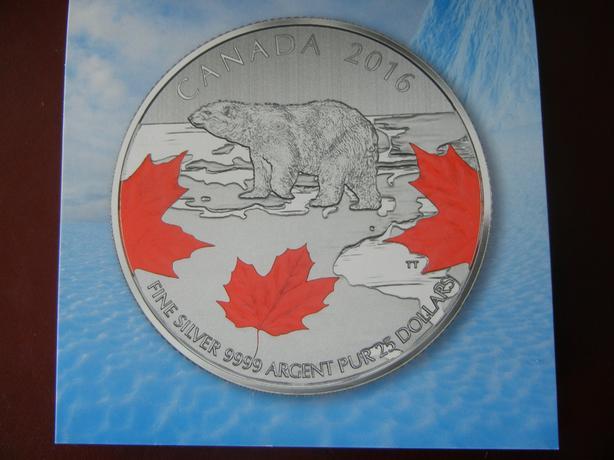 Fine Silver $25 Polar Bear Coin
