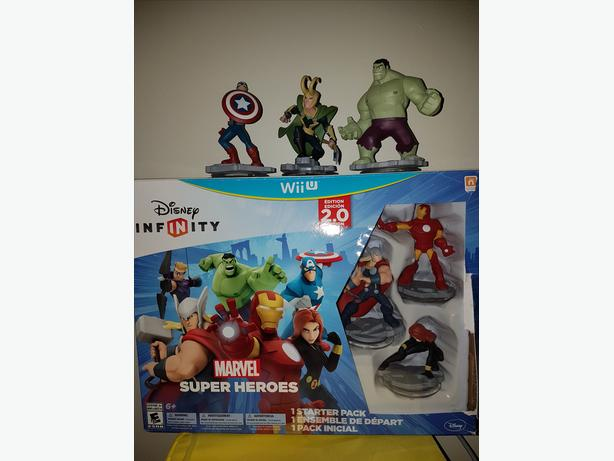 Wii U- Disney Infinity 2.0 Marvel Avengers Super Hero's