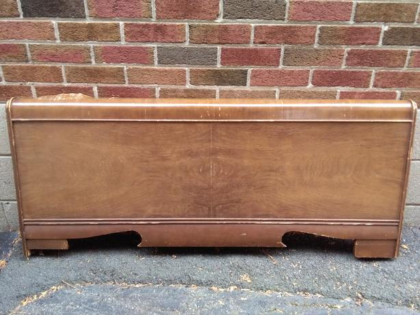 Vintage Antique Art Deco Footboard Double/Full Size