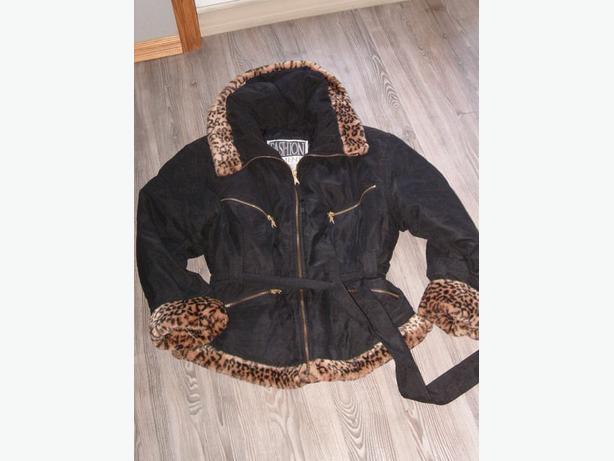 winter jacket . Leopard print collar